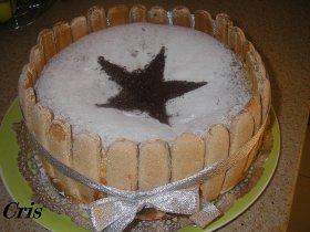 Bizcocho de chocolate blanco y queso philadelphia