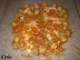 Recetas caseras : Pechuga de pollo a la plancha con champi�ones