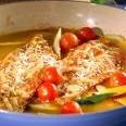 Pescado al horno con parmesano