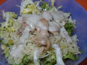 Ensalada de arroz con crema de berberechos