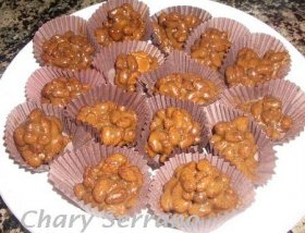 Crujientes de chocolate al dulce de leche