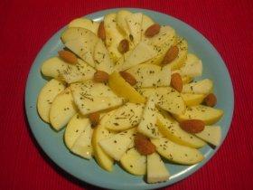Ensalada de manzana y quesoReceta