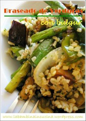 Braseado de verduras con bulgur