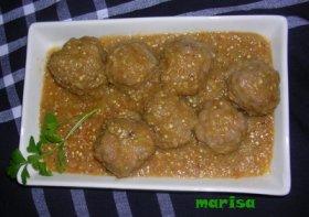 Recetas caseras : Alb�ndigas con salsa de berenjenas