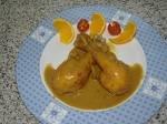Pollo en jugo de naranja