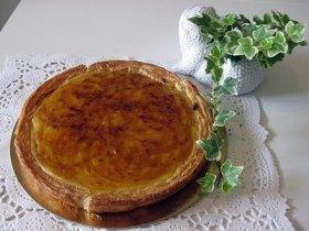 tarta de crema de manzanas