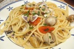 Espaguetis coquinas y berberechos