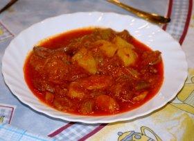 Guiso de patatas con chorizo