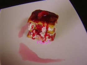 Tarta triple de fresas