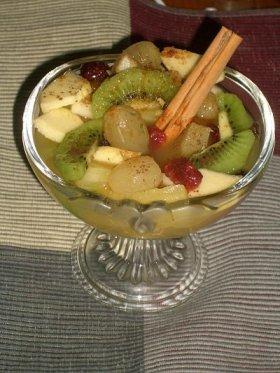 Macedonia de frutas al cointreau