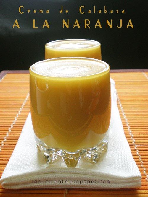 Crema de calabaza a la naranja