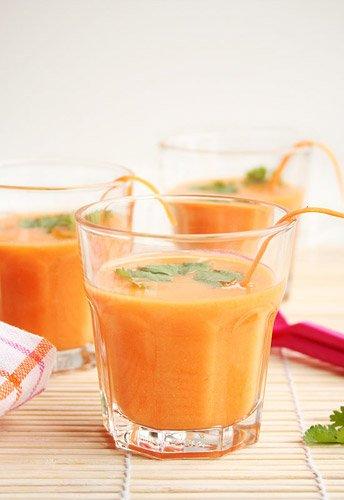 Sopa fría de zanahoria y yogur