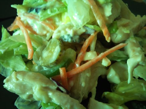 Ensalada estival con pollo  insalata estiva di pollo