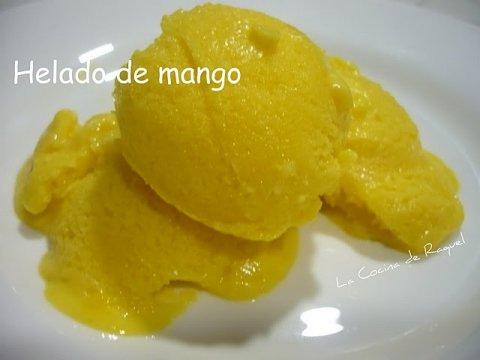 Helado de mango en thermomix