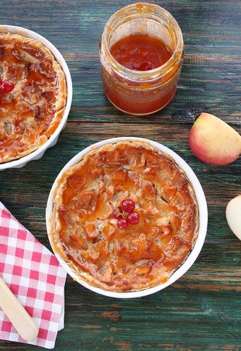 Tarta de manzana y queso fácil