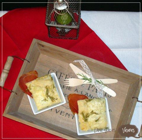 Focaccia de romero y queso provolone