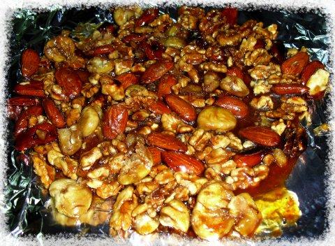 Torta de castañas y  frutos secos