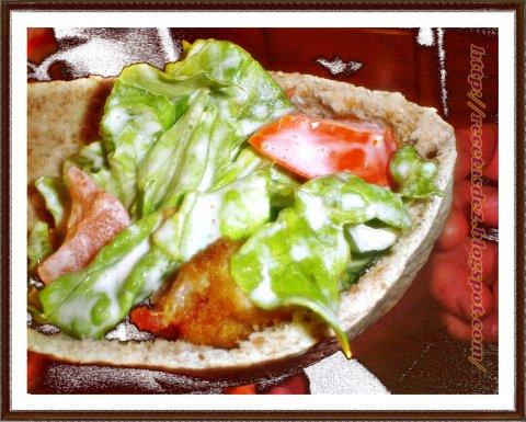 Pan pita especial y salsa kebab