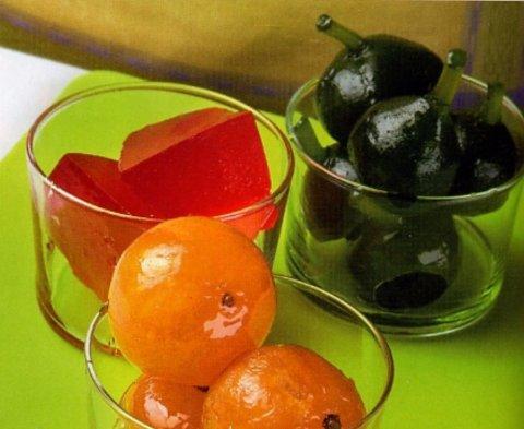 Fruta confitada o escarchada