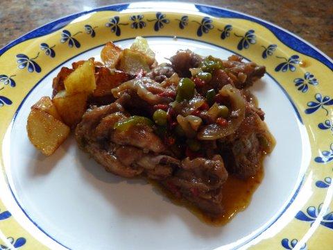 Pollo a la santanderina