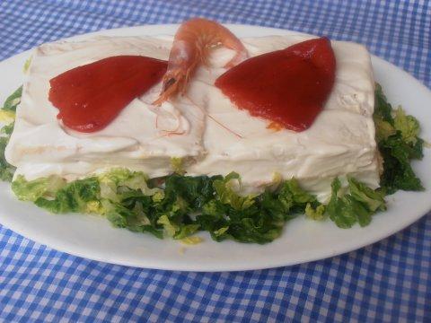 Pastel fresco de pan de molde