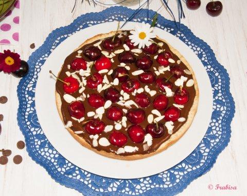 Tarta de chocolate con cerezas, una lujuria