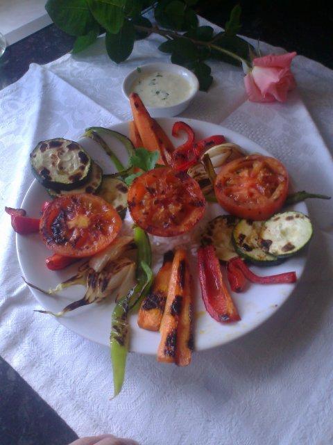 Parrillada  de verduras con mojo picón