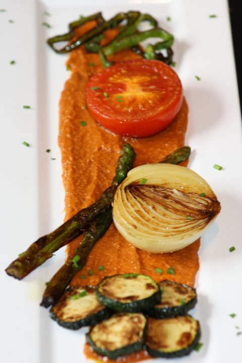 Salsa romesco con verduras