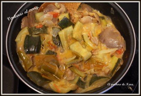 Verduras al curry.