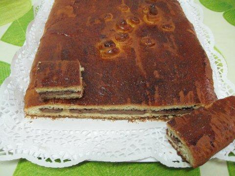 Pan dulce relleno de chocolate