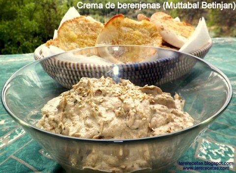 Crema de berenjenas, baba ghanouj (en turco) o muttabal betinjan (en Árabe)