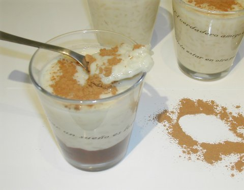 Arroz con leche y mermelada