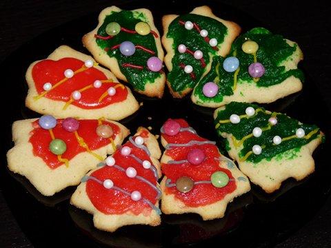 Galletas arbolitos de navidad