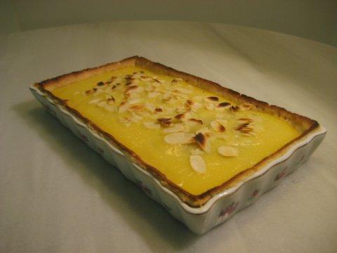 Tarta de pera y vino blanco