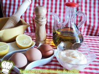 Salsa mayonesa al estilo tradicional