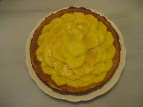 Tarta franchipán de mango