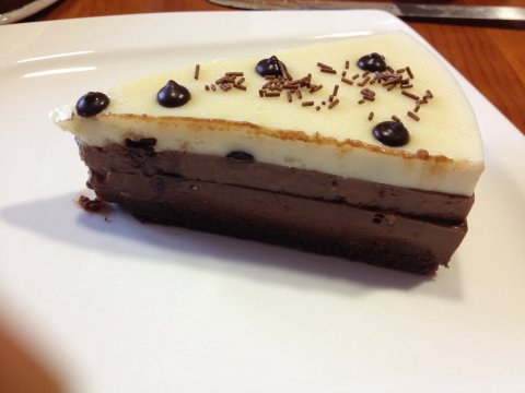 Mi tarta tres chocolates sin gluten