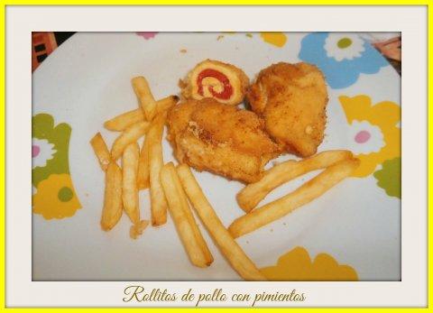 Rollitos de pollo con pimientos