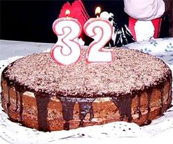 Tarta de chocolate de cumpleaños