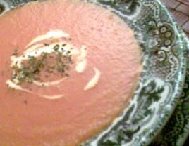 Crema de zanahoria y tomate.