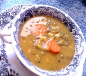 Sopa de soja y calabaza