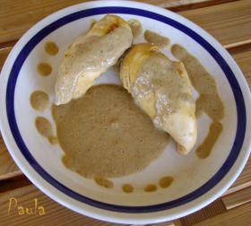 Recetas caseras : Pollo con salsa de champi�ones