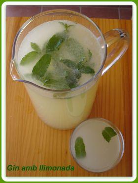 Recetas caseras : Gin con limonada (t�pica bebida menorquina)