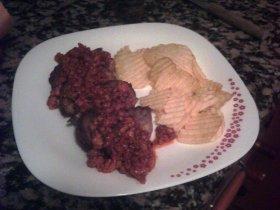 Recetas caseras : Escolopines de lomo con salsa bolognesa