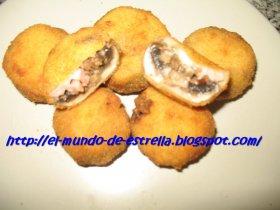 Champiñones empanados
