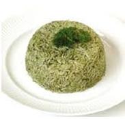 Arroz verde con cilantro