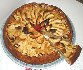 Tarta de manzana nati